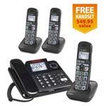 Single Line Corded Cordless Phones clarity e814 2 e814hs 1 free handset