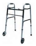 Lumex Lum716270b-1 Folding Walker With Wheels