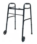 Lumex Lum716270bk-1 Folding Walker With Wheels