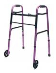 Lumex Lum716270p-1 Folding Walker With Wheels
