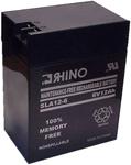 Rhino Batteries Sla 12-6 Sealed Lead Acid Rechargeable Battery