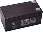 """Rhino SLA 3-12, The Rhino SLA 3-12 sealed lead acid battery is a valve-regulated type, which fixes the acid electrolyte in an absorptive fiberglass mat"