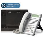 NEC NEC-SL1100-10pack-24B-IPW SL1100 Quick-Start Kit w/ 10 IP Phones