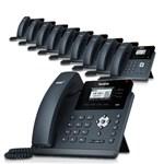 3 Line Voice Over IP Phones yealink sip t40p 10 Pack