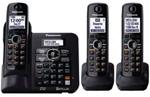 3 Handsets panasonic kx tg6643b