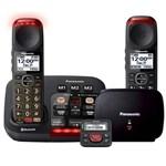 panasonic kx tgm430b plus 1 kx tgma44b with range extender and call blocker