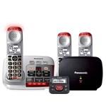 panasonic kx tgm450s plus 2 kx tgma45s with range extender and call blocker