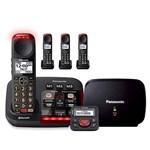 panasonic kx tgm430b plus 3 kx tgma44b with range extender and call blocker