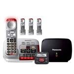panasonic kx tgm450s plus 3 kx tgma45s with range extender and call blocker