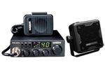 Uniden PRO520XL BC23A CB radio with external speaker