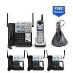 Five or More Handset Phones att sb67138 office bundle with headset